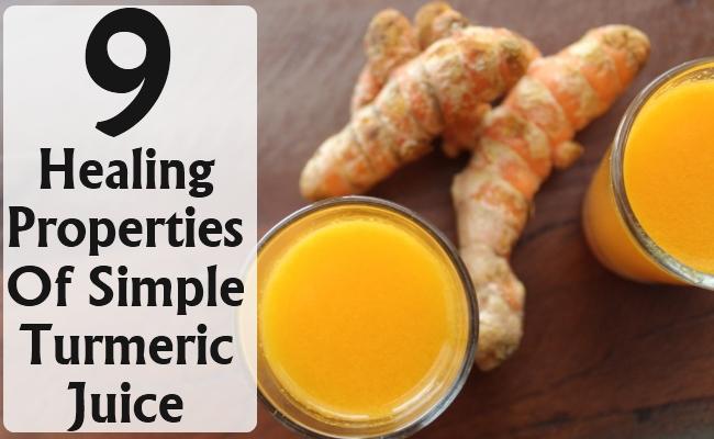 Healing Properties Of Simple Turmeric Juice