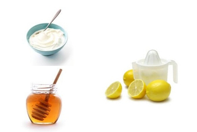 Yogurt Honey Lemon Juice Mask