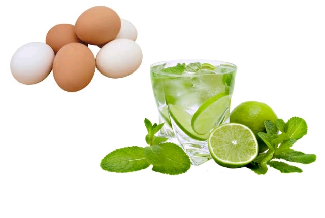 Egg white lime juice