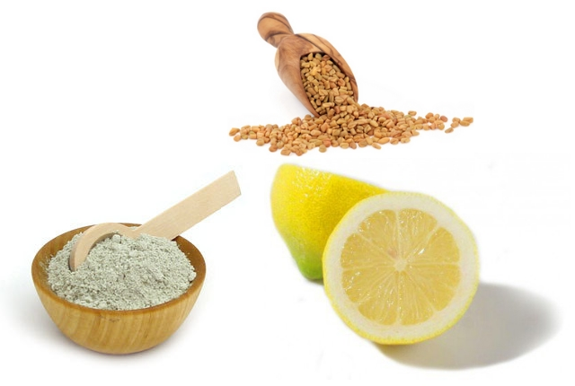 Fuller's Earth, Lemon Juice And Fenugreek Seeds Mask