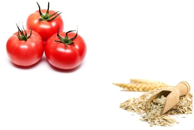 Oats And Tomato Face Pack