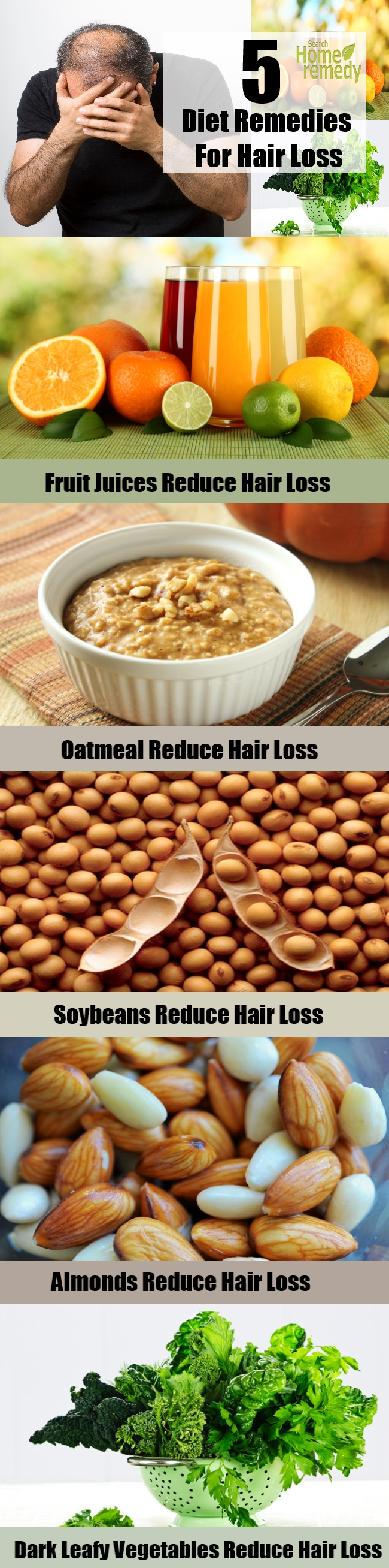5 Diet Remedies For Hair Loss