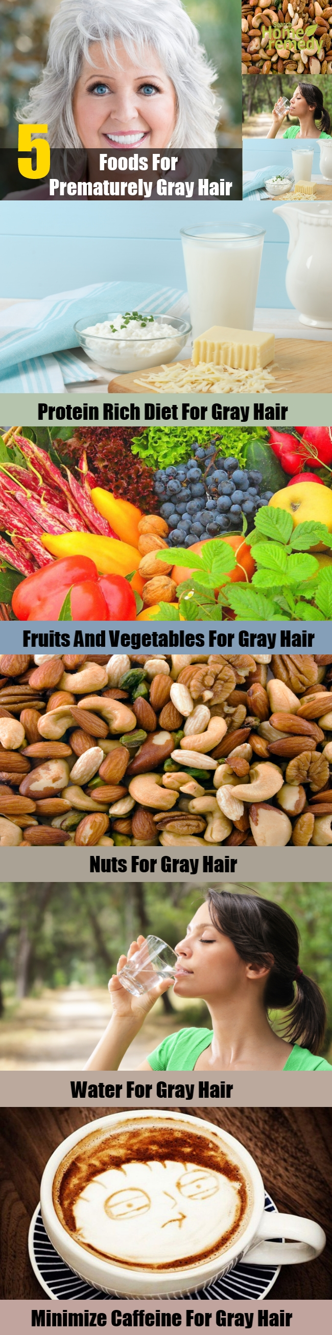 5 Foods For Prematurely Gray Hair