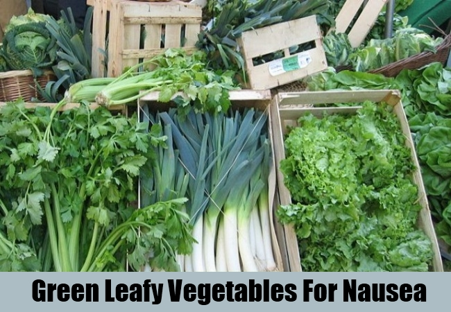 Green Leafy Vegetables For Nausea