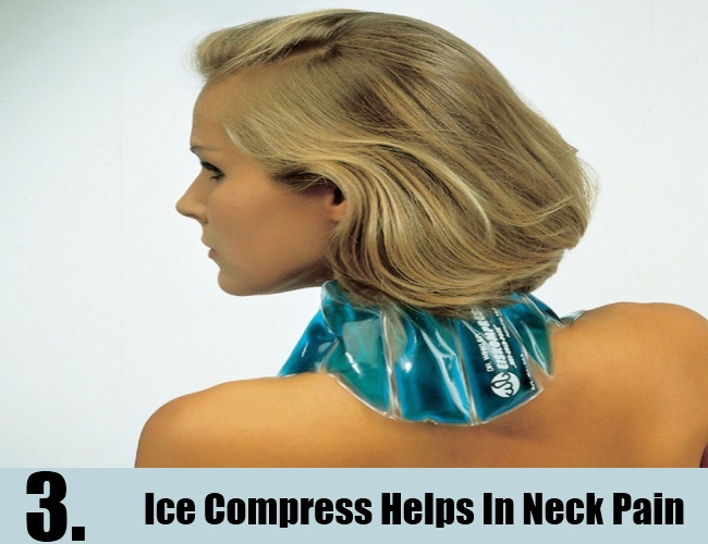 Ice Compress Helps In Neck Pain