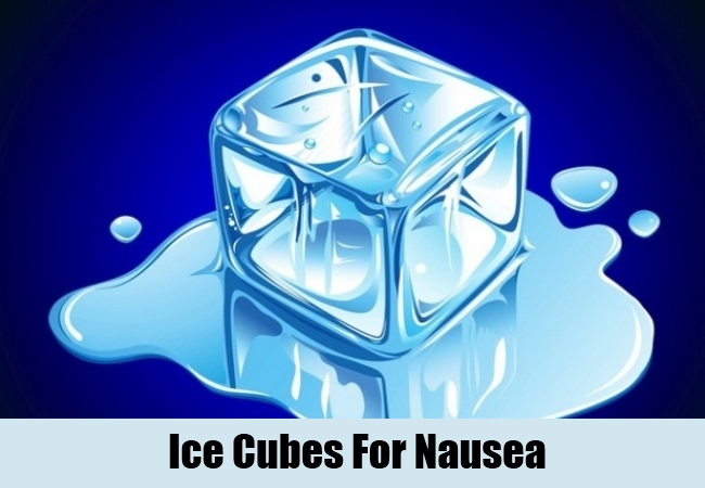 Ice Cubes For Nausea
