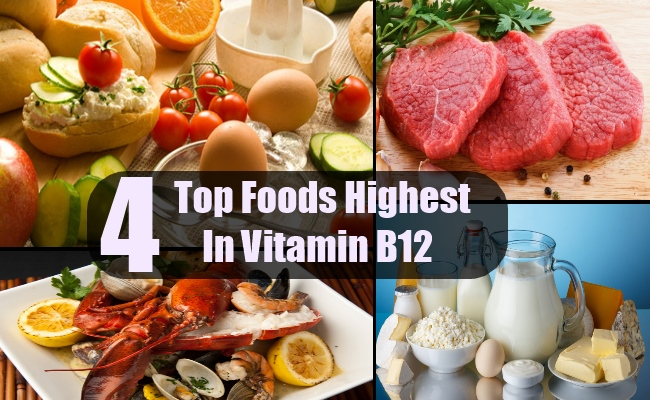 Top 4 Foods Highest In Vitamin B12