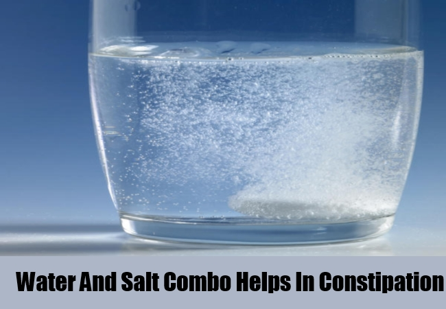 Water And Salt Combo Helps In Constipation Relief