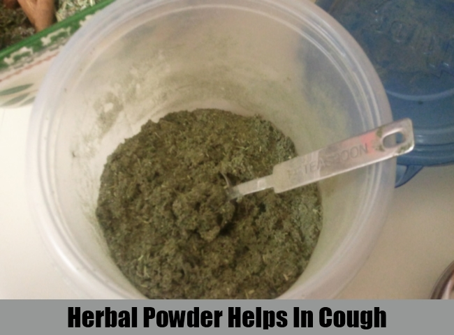 Herbal Powder Helps In Cough