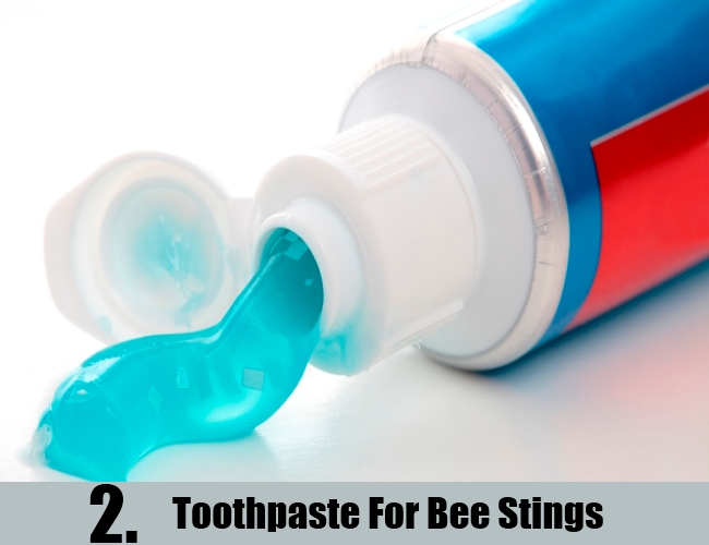 Toothpaste For Bee Stings