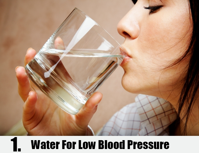 Water For Low Blood Pressure