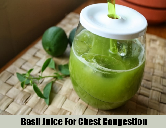 Basil Juice For Chest Congestion