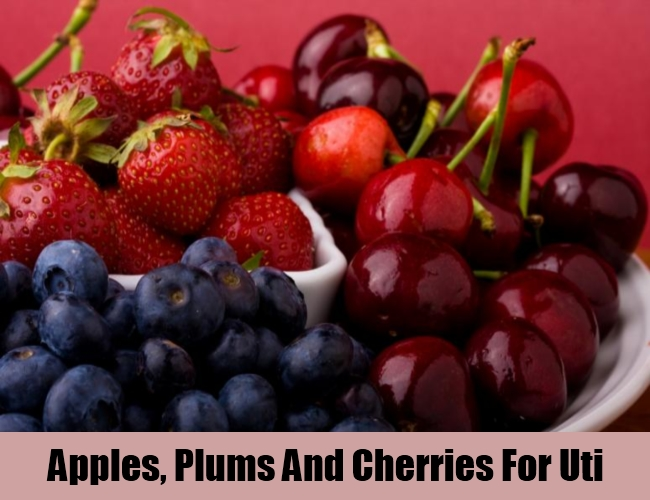 Apples, Plums And Cherries For Uti