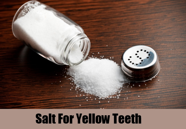 Salt For Yellow Teeth