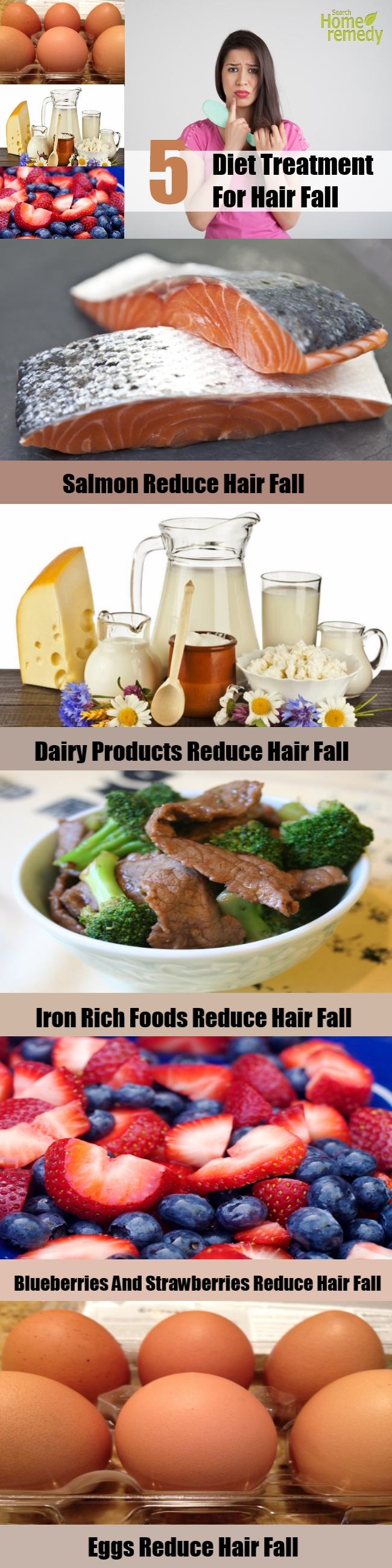 5 Top Diet Treatment For Hair Fall