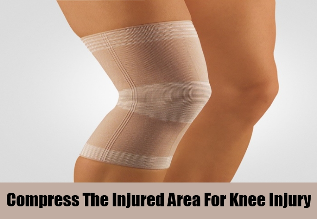 Compress The Injured Area For Knee Injury