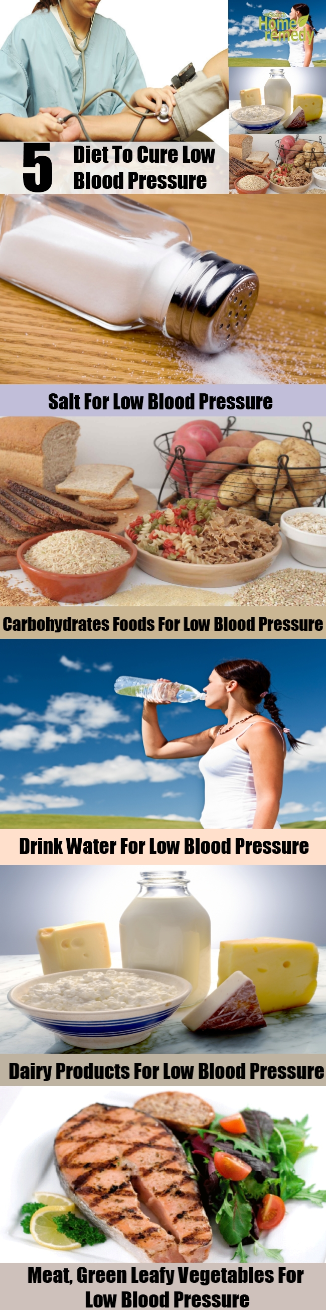 5 Change Of Diet To Cure Low Blood Pressure