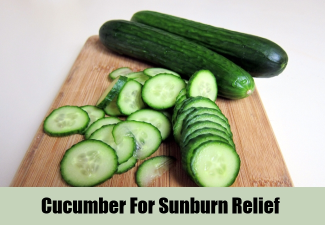 Cucumber For Sunburn Relief