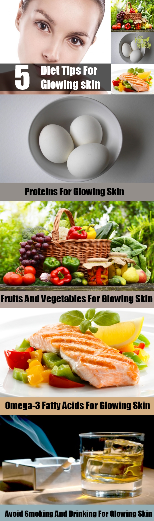 5 Great Diet Tips For Glowing skin