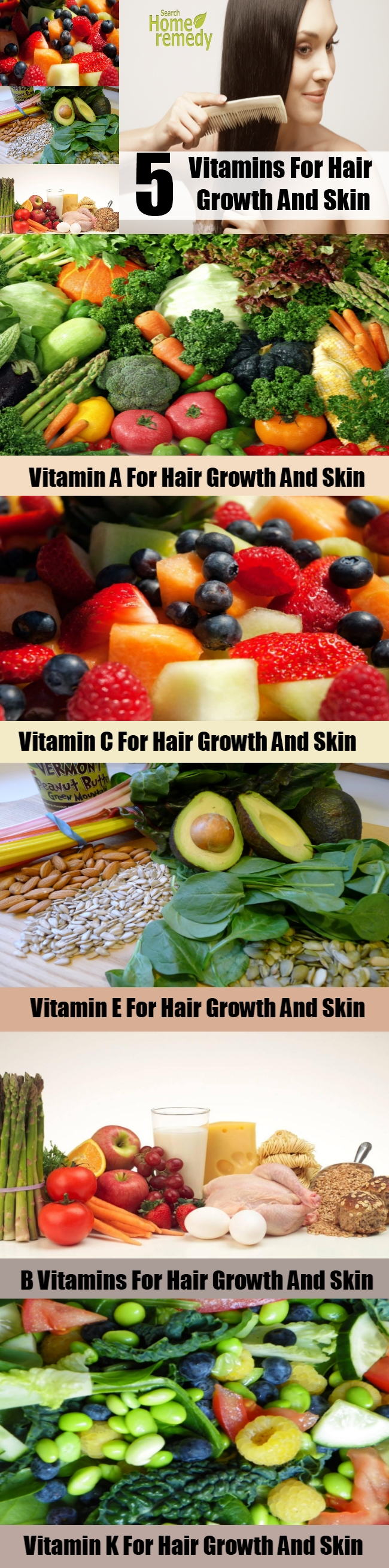 5 Vitamins For Hair Growth And Skin