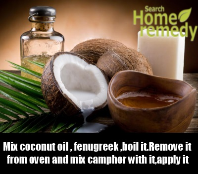 Coconut Oil, Camphor And Fenugreek