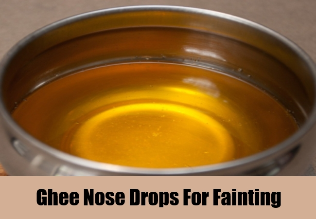 Ghee Nose Drops For Fainting