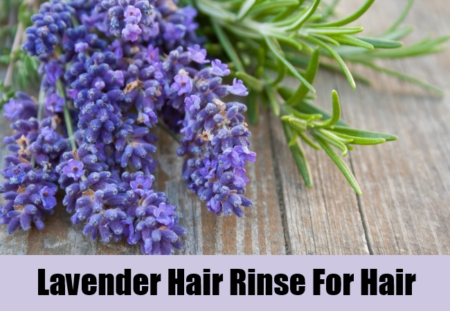Lavender Hair Rinse For Hair
