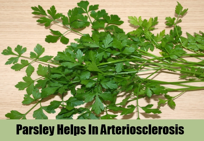 Parsley Helps In Arteriosclerosis