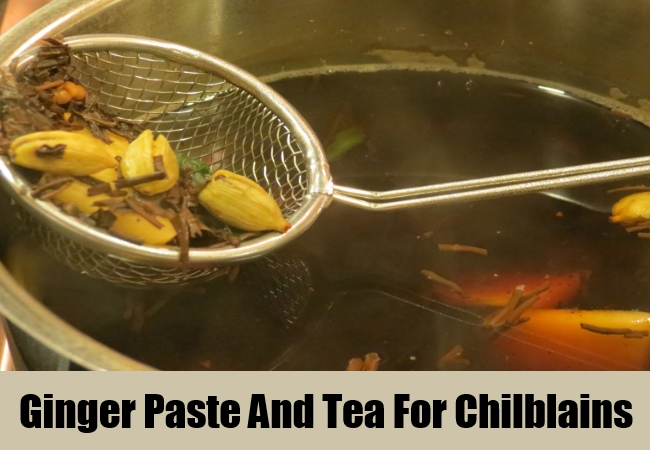 Ginger Paste And Tea For Chilblains
