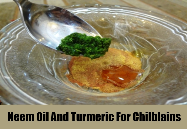 Neem Oil And Turmeric For Chilblains