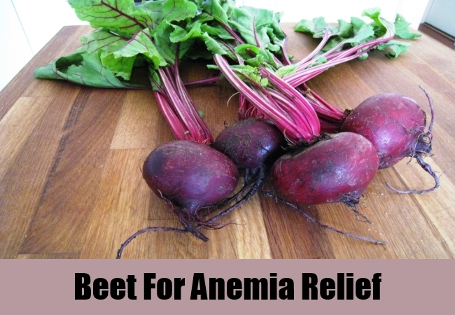 Beet For Anemia Relief