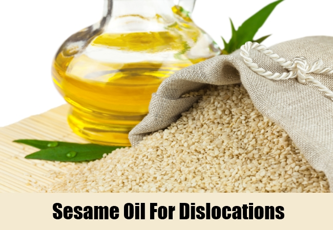 Sesame Oil For Dislocations