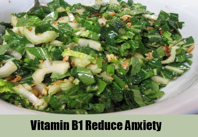 Vitamin B1 Reduce Anxiety