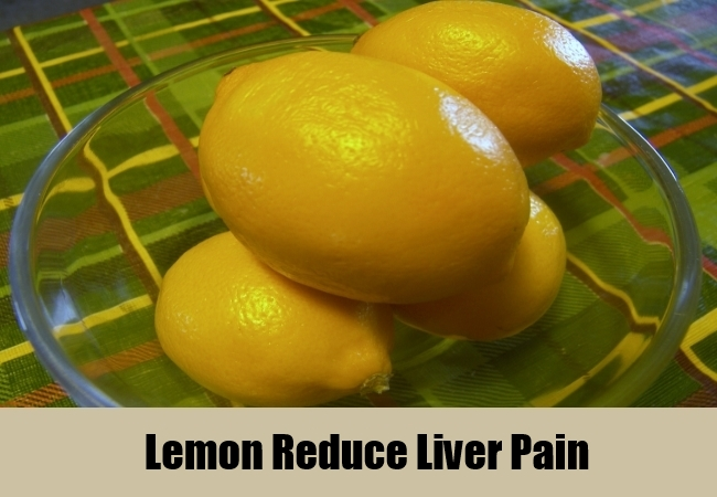 Lemon Reduce Liver Pain