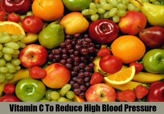 Vitamin C To Reduce High Blood Pressure