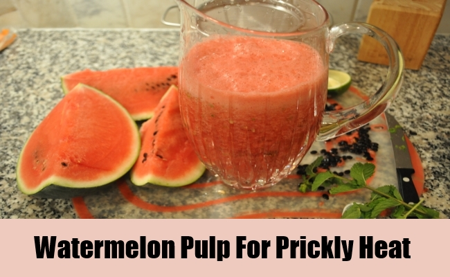 Watermelon Pulp For Prickly Heat