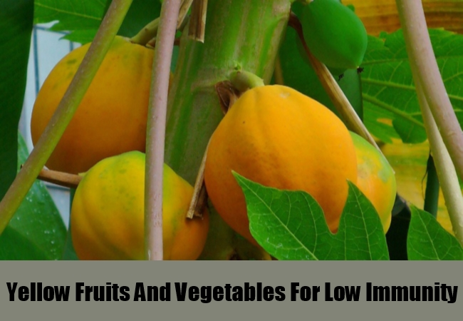 Yellow Fruits And Vegetables For Low Immunity