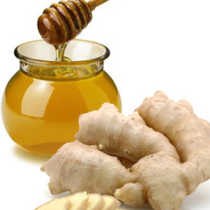 Ginger along with honey