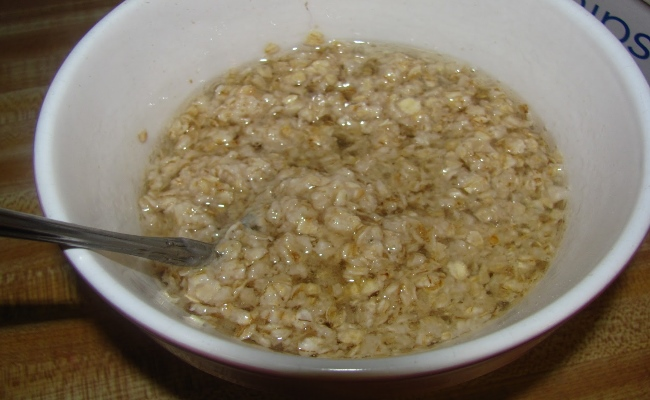 Mix Of Water And Oatmeal