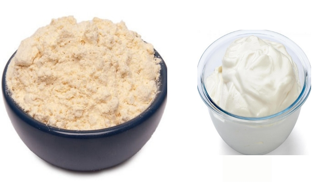Chickpea Powder And Sour Curd