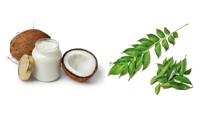 Coconut Oil With Curry Leaves