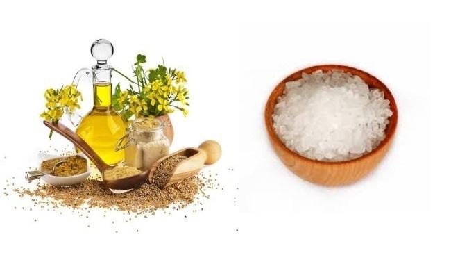 Mustard Oil And Salt