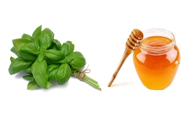 Basil Leaves And Honey