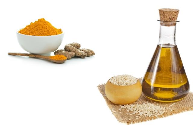 Apply Turmeric And Sesame Oil Paste