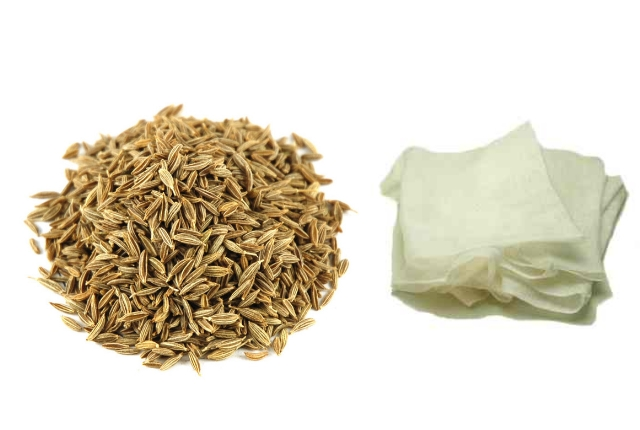 cumin seeds and cheese cloth