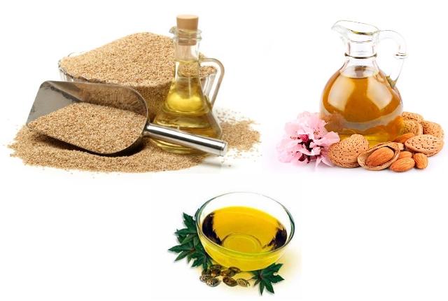 Sesame Oil, Almond Oil And Castor Oil