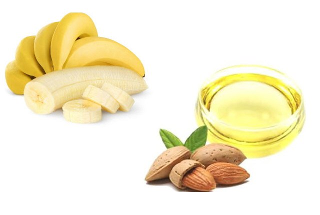 Almond Oil And Banana Face pack