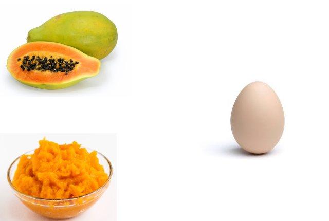Pumpkin, Papaya Egg Peel Off Mask