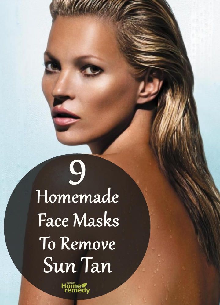 Homemade Face Masks To Remove Sun Tan