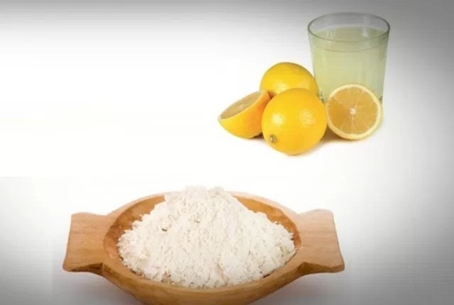 Rice Powder And Lemon Juice